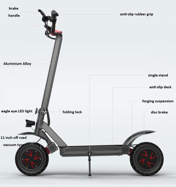 Trotinetă electrică 1500 w RS3000